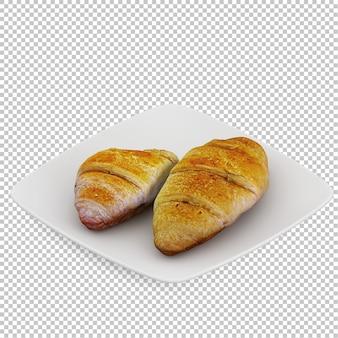 Petit déjeuner isométrique