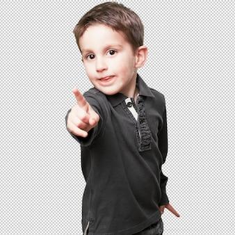 Petit enfant pointant devant