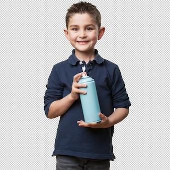 Petit enfant avec spray