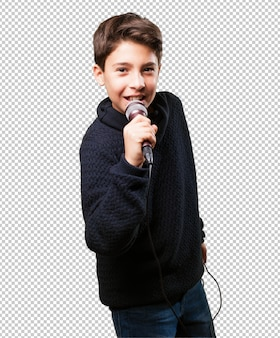 Petit garçon chante