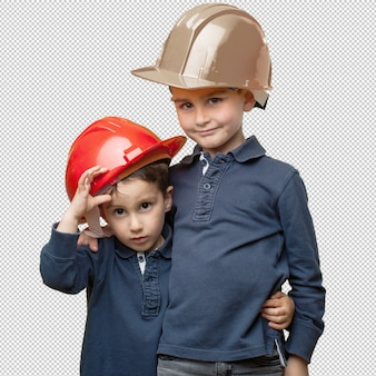 Petits enfants en tant qu'architectes