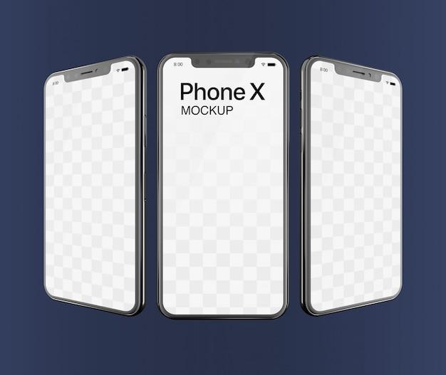Phone x mockup triple screen