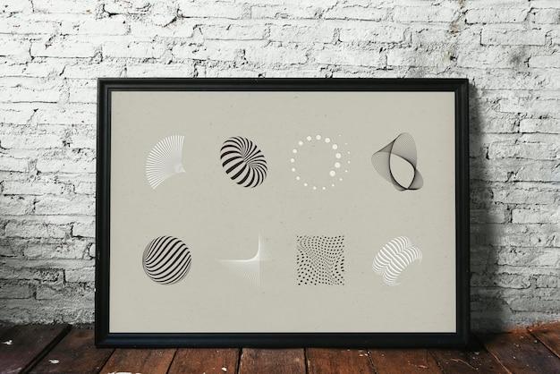 Photo à motifs abstraits sur un plancher en bois