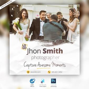 Photographe de mariage bannière publicitaire