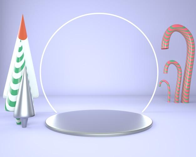Piédestal pour affichage pour support de produit en rendu 3d