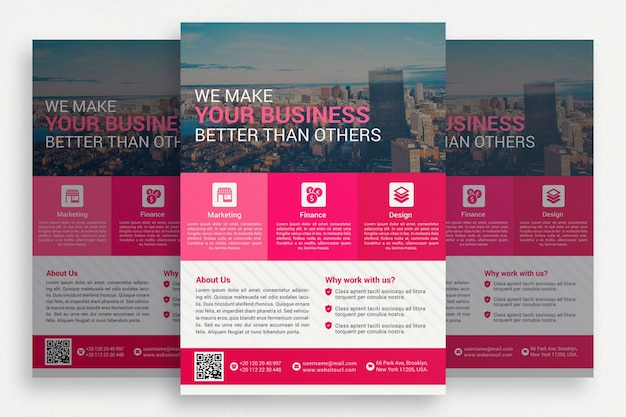 Pink business brochrue