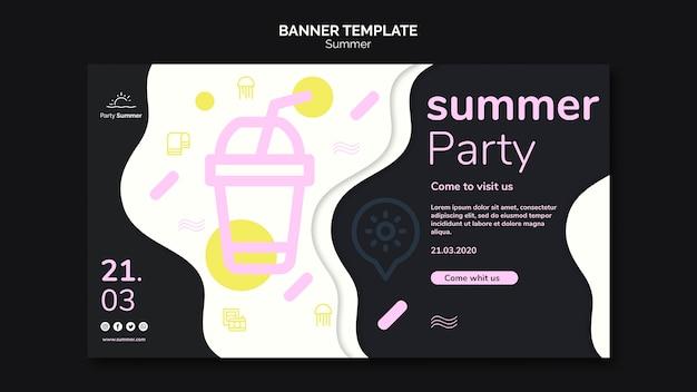Plaisirs d'été avec modèle de bannière de limonade