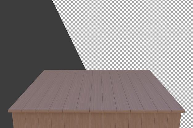 Planche de bois rendu 3d isolé