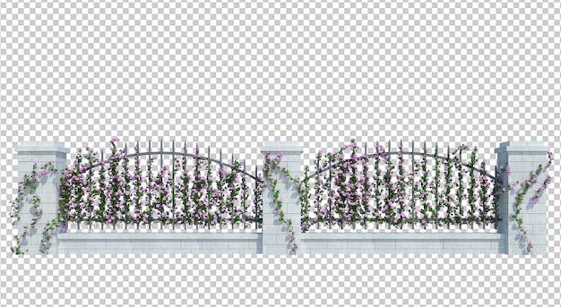 Plantes de lierre de rendu 3d isolés