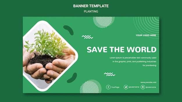Plantez des arbres pour un meilleur modèle de bannière aérienne