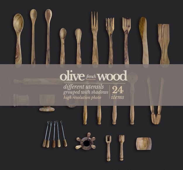 Plaque de vaisselle occidentale en bois