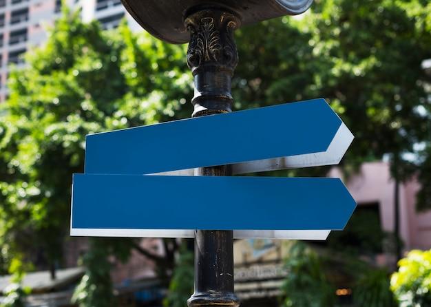 Plaques de rue en ville