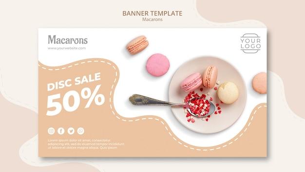 Plat de macarons français colorés en vente