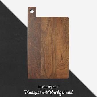 Plateau de service en bois sur fond transparent