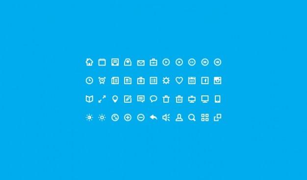 Plats icônes icon set