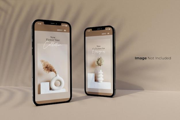 Plein écran-noir-smartphone-mockup-design