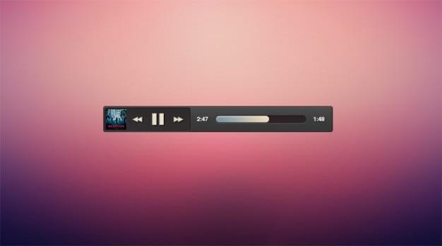Pochette de l'album sombre micro lecteur de musique minimale