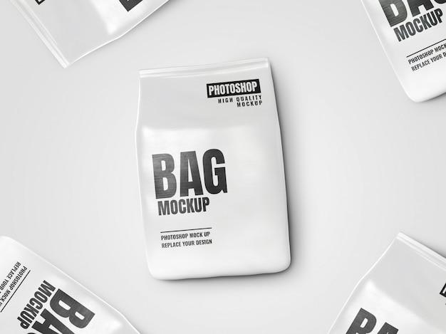 Pochette sac réaliste maquette publicitaire