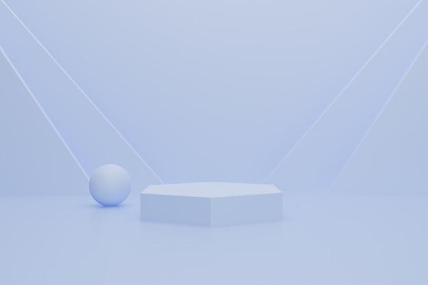 Podium 3d abstrait