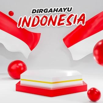 Podium 3d pour la fête de l'indépendance de l'indonésie