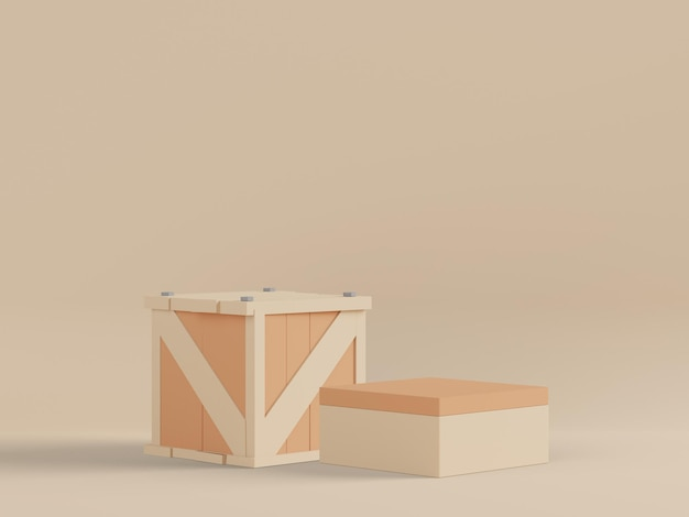 Podium 3d pour le placement de produit avec un design rétro moderne et contemporain