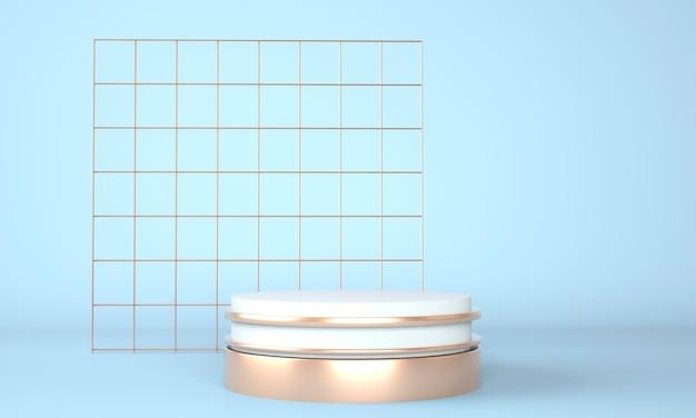Podium abstrait 3d avec des formes géométriques