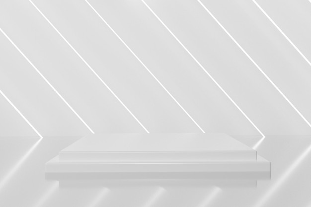 Podium blanc élégant