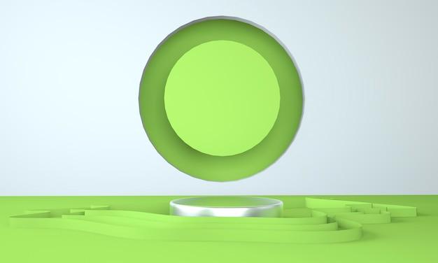 Podium de forme de géométrie de scène abstraite pour l'affichage du produit