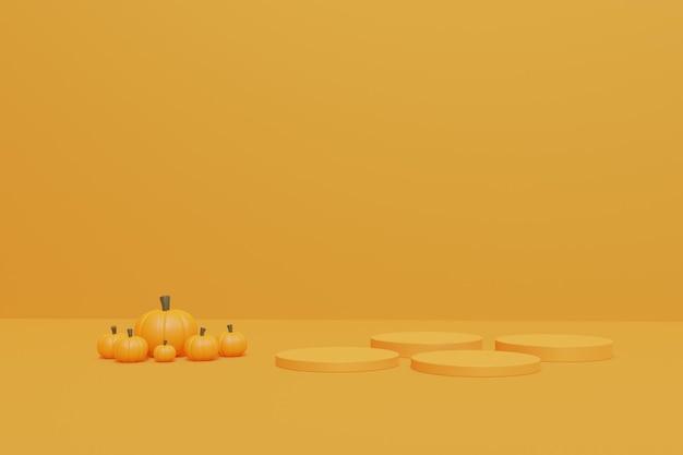 Podium d'halloween 3d pour l'affichage des produits