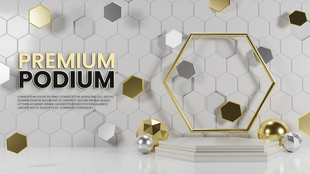 Podium hexagonal de luxe premium