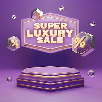 Podium de luxe en or violet