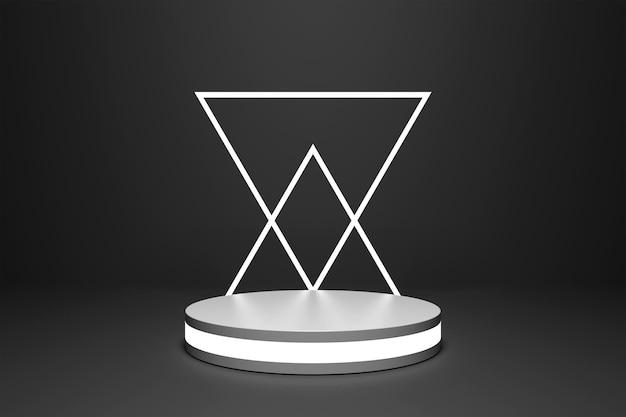 Podium néon pour le rendu 3d de placement de produit