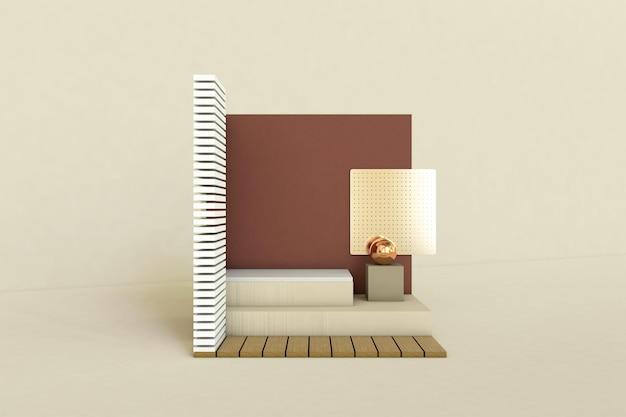 Podium, piédestal ou plate-forme, fond cosmétique pour la présentation du produit