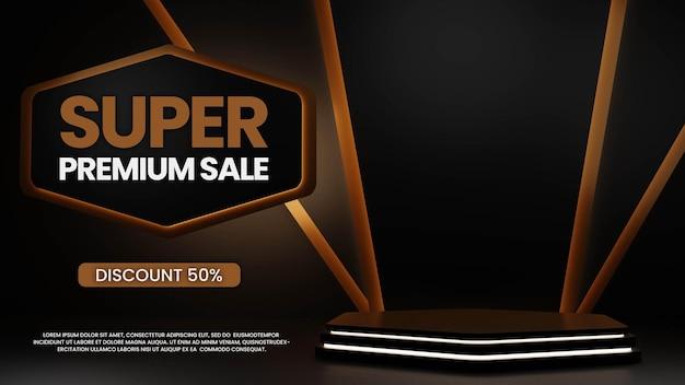 Podium Premium Avec Néon PSD Premium