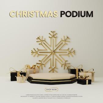 Podium premium special noel avec coffret cadeau