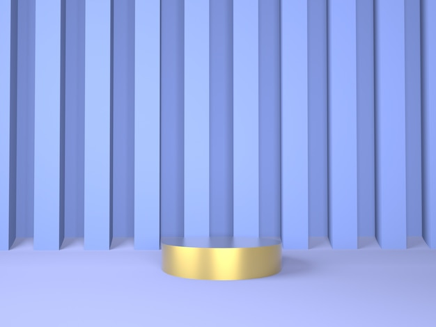 Podium de produit sur le concept de géométrie minimale abstraite rendu mis en scène