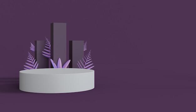 Podium de produits 3d pour la promotion des produits