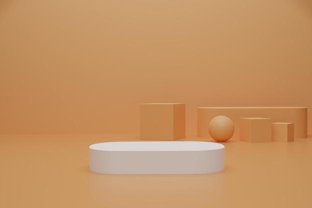 Podium de rendu 3d abstrait pour la publicité du produit