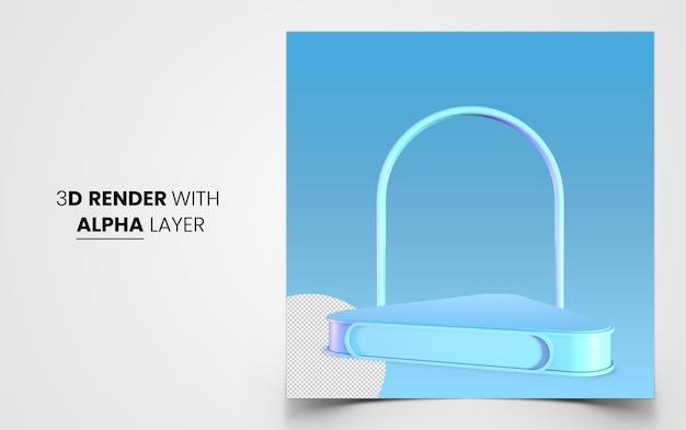 Podium de rendu 3d pour votre vitrine de produits premium psd