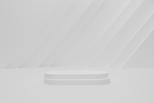 Podium de rendu 3d vide blanc