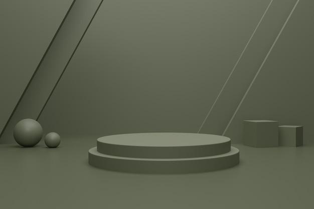 Podium de rendu 3d vide pour la publicité du produit