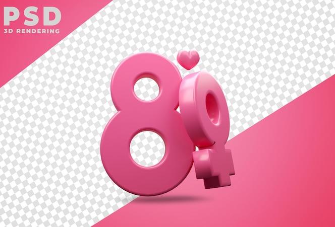 Podium avec le rendu de la journée des femmes heureux