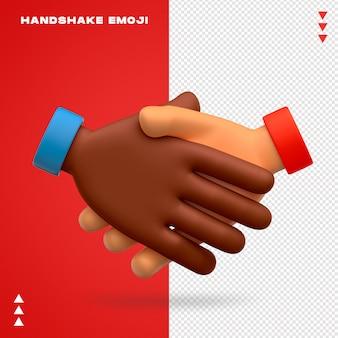 Poignée de main emoji isolé