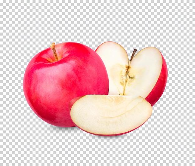 Pomme rouge fraîche isolée psd premium