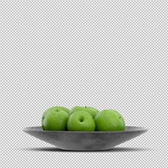 Pommes rendu 3d
