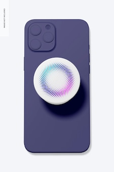 Popsocket sur la maquette du téléphone