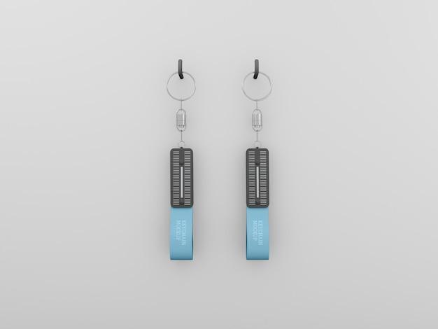 Porte-clés avec maquette d'anneau métallique