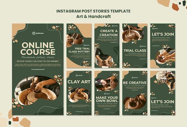 Post instagram sur les arts et l'artisanat
