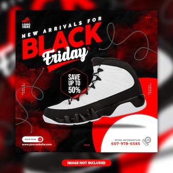 Post instagram du vendredi noir ou modèle de bannière web carré