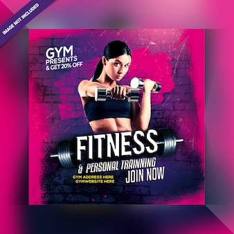 Post instagram de gym fitness